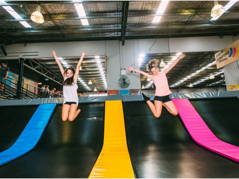 Trampoline Park Session for Two Adults and One Student at Bounce Singapore (1 Hour)