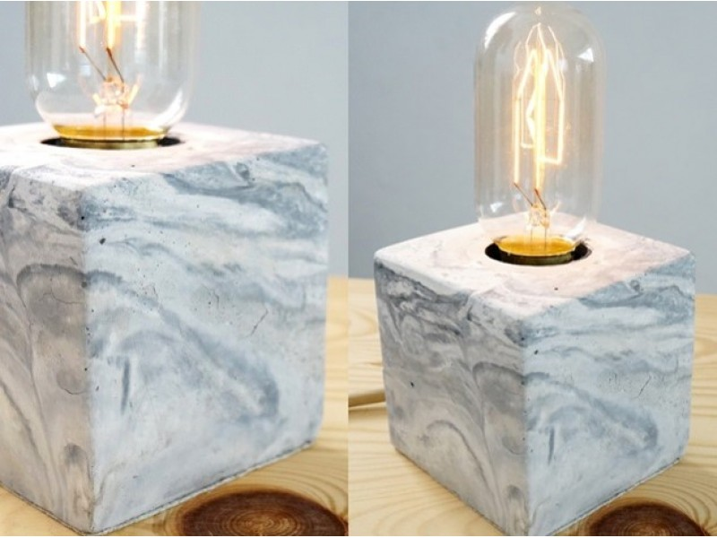 Marbled Lamp Workshop for One by Concrete Everything