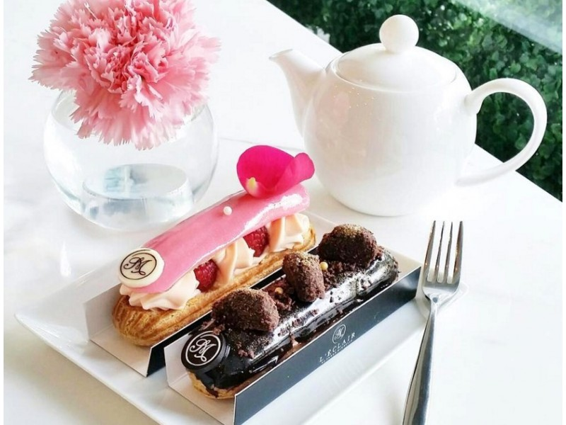 Eclairs and Tea for Two at L'ECLAIR BY SARAH MICHELLE