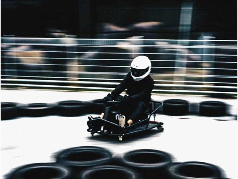 Kart riding at Maximum Drift Karting Arena