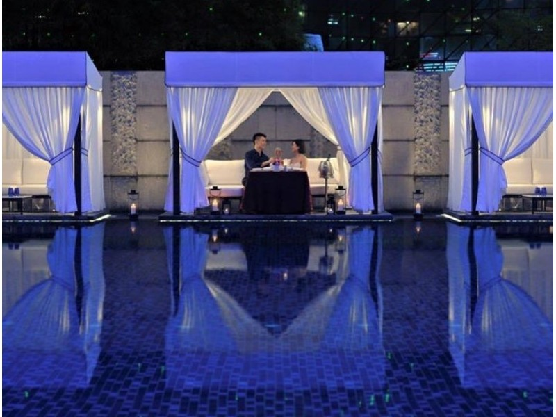 Poolside Cabana 4-Course Dinner with Champagne for Two at Pool Grill
