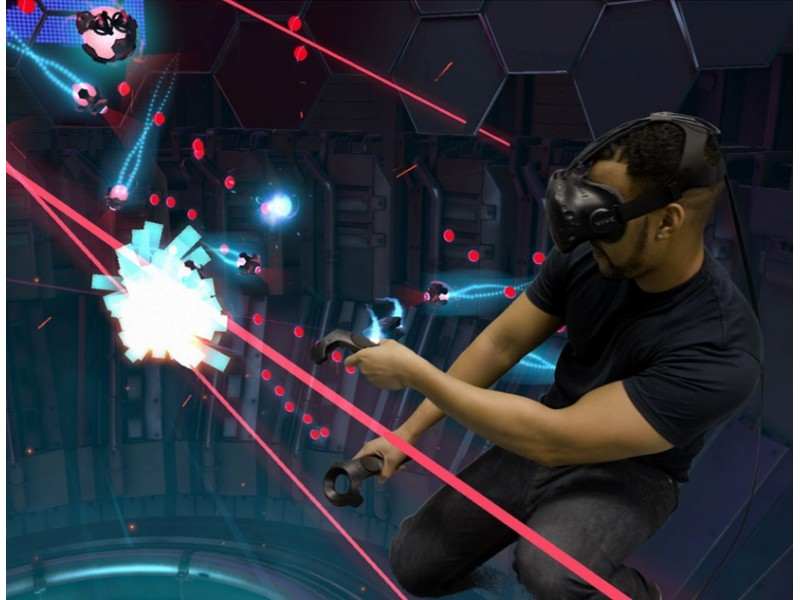 Virtual Reality Arcade for Two at V-Room