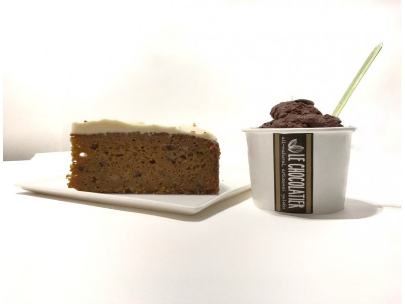 Gelato and Cake Treat by Le Chocolatier